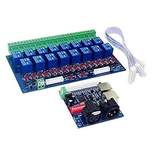 SHUGJAN 16-Kanal DMX-Controller Relais Schalter Dimmer Kit 16 Way Relaisschalter DJ-Equipment DIY Zubehör Hardware Reparaturwerkzeuge