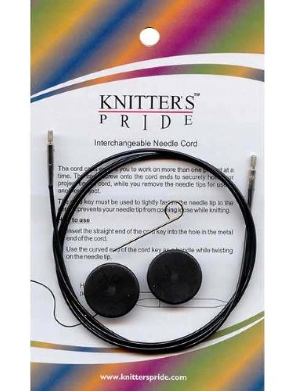 Knitter's Pride Interchangeable Cords, 11'' (20'' w/ tips), Black