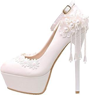 JKTOWN ウェディングパンプス ウェディングシューズ パーティーパンプス 結婚式 宴会 ブライダル プロポーズ フォーマル レディース ハイヒール 美脚 厚底 美しい