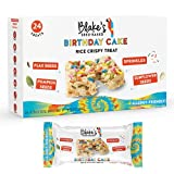 Blake's Seed Based Rice Crispy Treats – Birthday Cake (24 Count), Nut Free, Gluten Free, Dairy Free & Vegan, Healthy Snacks for Kids or Adults, School Safe, Low Calorie Organic Soy Free Snack