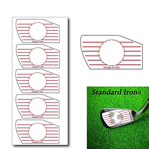 Golf Club Impact Tape Labels for Standard Woods Irons Ball Hitting Recorder 125/250 Pcs, Club Face Stickers Training Aids for Golfer Swing Practice (125 Pcs Standard Irons)