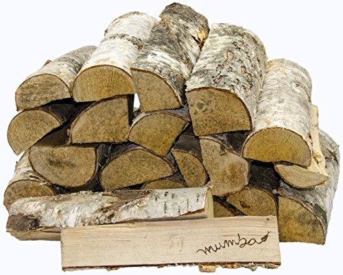 mumba 15 KG Kaminholz * BIRKE * Feuerholz Restfeuchte ca. 20% getrocknet