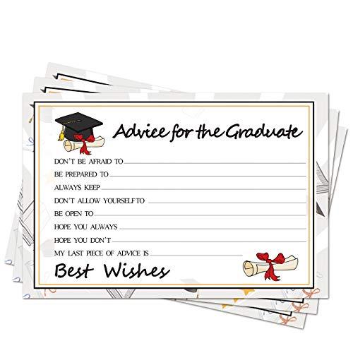 Graduation Wish Cards - 50PCs High School or College Graduation Advice Cards Supplies 2021 Decorations Grad Celebration Party Supplies for High School/College/Senior School