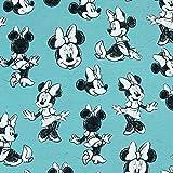Baumwolljersey Disney Minnie Mouse mint - Preis gilt für