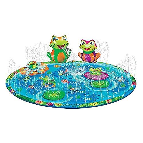 IWILCS Splash Pad, Splash Play Matte, Sprinkler Wasser-Spielmatte, Sprinkler Matte Wasserspielzeug Spielmatte, Sommer Garten Wasserspielmatte für Kinder Aktivitäten/Party/Strand/Garten