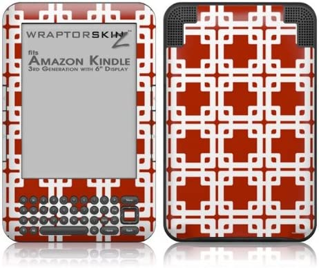 WraptorSkinz Cheap super special price Boxed Red Max 70% OFF Dark - Decal Amazon Skin fits Style Kindl