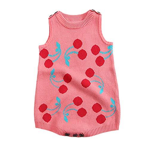 ALIKEEY Infant Nouveau-né Bébé Garçon Fille Floral Tricot Barboteuse Body Crochet Vêtements Tenues Manteaux Pulls et Gilets Et Blousons Cadeau De Noël pour Votre Bébé