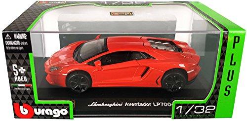 Burago Street Fire Range Lamborghini Aventador LP700-4 Coupe in Black New Burago 1//43 Diecast Model Car