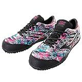 数量限定 安全靴 ミズノ F1GA1900 オールマイティTD11L グラフティアート 26.0 60ピンク×ブラック