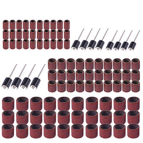 BESTOMZ 102 Stück Schleifhülsen Schleifen Dorn Set für Nagelfräser Maniküre
