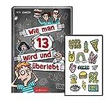 Wie man 13 wird und Superviven (banda 1, libro de bolsillo) + Coole Sticker, Fantasy Adventure a partir de 10 años