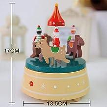 RDYHJHFJ Santa carrusel de música como un Regalo de Escritorio Decorativo Navidad Juguete Navidad Ventana S