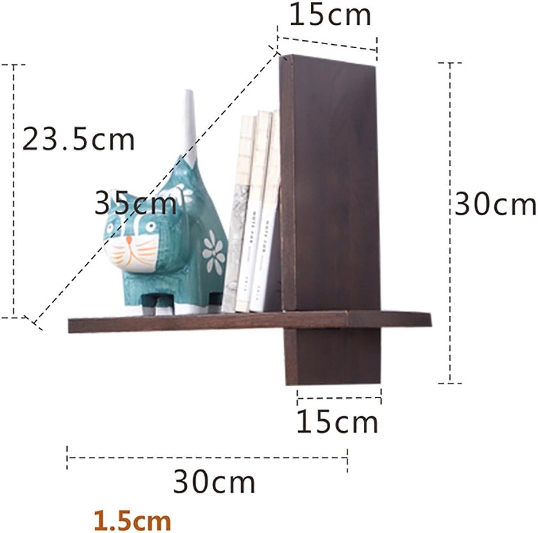 Wall Shelves, Living Room Wall Decoration Frame, Creative Wall Rack, Wall Solid Wood Shelves (color   B)