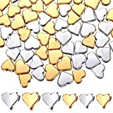 Heart Spacer Beads Heart Shape Metal Beads Small Hole Heart Charms Jewelry Handmade Beads Accessories for DIY Necklace Bracelet Earring Pendant Making (160 Pieces)