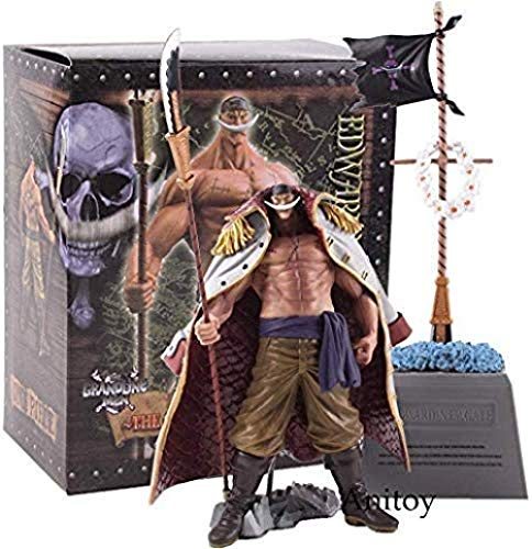 MNZBZ DXF One Piece Figure Herren Grandline Special Whitebeard Edward Newgate und Gravestone PVC Action Figure Collection Modell Spielzeug