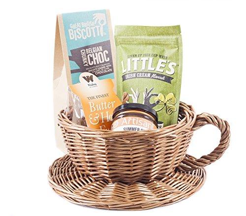 Korb für Morgenkaffee, irische Cremefarben