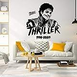 PMSMT Músico Cantante Michael Jackson Etiqueta de la Pared Rey de la música Pop Tatuajes de Pared habitación de los niños Vinilo decoración para el hogar