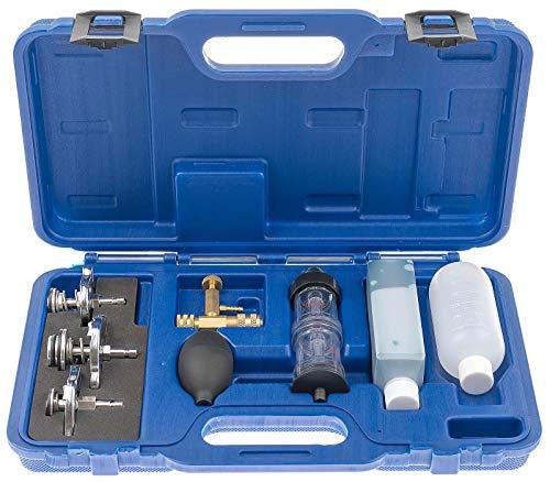 ASTA A-1025B CO2 Lecktester Zylinderkopfdichtung Dichtigkeits Prüfgerät Leckagetester mit 3 Bajonettanschlüssen inkl. Kunststoffkoffer