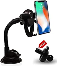 SPAIKO Car Mobile Holder 360 Degree Adjustable Car Mobile Stand Windshield Dashboard Mount Cradle for All Smartphone