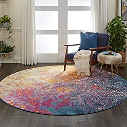 colorful round area rug
