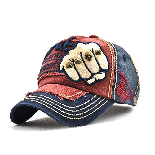 Gorra The Fist Gorra de Exterior Sombrero de algodón Ajustable Snapback Remaches Gorras Hip Hop Hombres Mujeres Gorra de béisbol