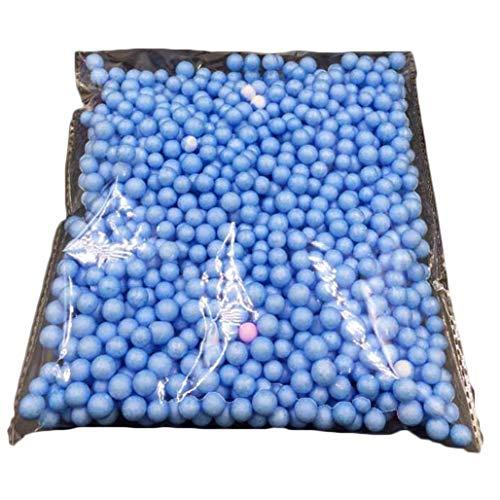 Brussels08Micro palline in polistirolo espanso multicolore, per slime e per attività artistiche e artigianali, fai da te, decorazioni, per casa e scuola, Blue, L
