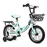 BaoKangShop Draisiennes Vélo for Enfants vélo à pédale d'amortissement 3-12 Ans Poussette Maternelle vélo antidérapant Vélos et Véhicules pour Enfants (Color : Green, Size : 16 inches)