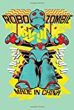 Dotted Line Notebook: Robo Zombie | Tattoo Artist Notebook | 120 Pages 6x9 in | Pretty Notebook for ...