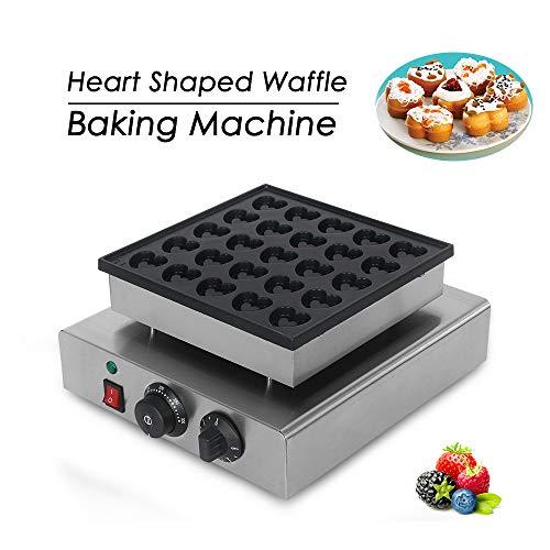 Elektrische hart, gevormd wafelijzer, roestvrij staal, wafels, cakeoven, 25 gaten, bakken dessert, ijzer, hete plaat machine