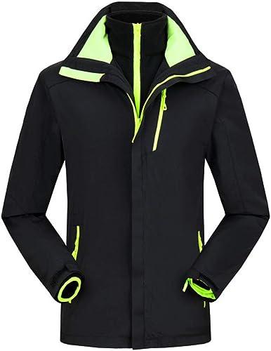 Alte vert Vestes pour Hommes Chauds, VêteHommests De Sport Imperméables à l'eau De Deux Pièces De Trois-en-Un