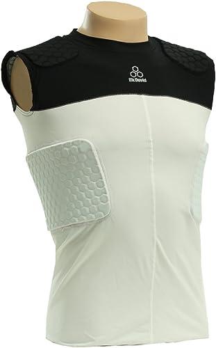 Mcdavid 787-CL Classic Logo HexPad 5 Pad Body Shirt Weiß & schwarz XX-Large
