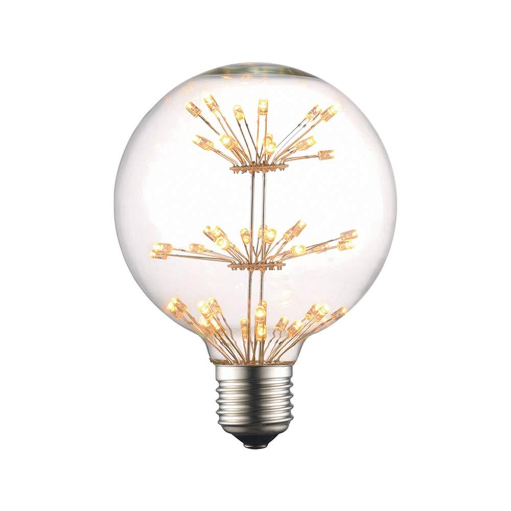 FLYFLY Vintage E27 Ampoule LED Ampoule Retro Edison Dimmable Lampe RGB Lumière étoilée Ampoule Décoratives Filament Lumière, 2200K Blanc Chaud, 3W