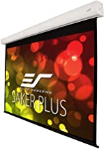 Elite Screens Saker Plus, 200-inch 16:9, Large Electric Motorized Drop Down Projection Projector Screen, Model: SK200XHW2