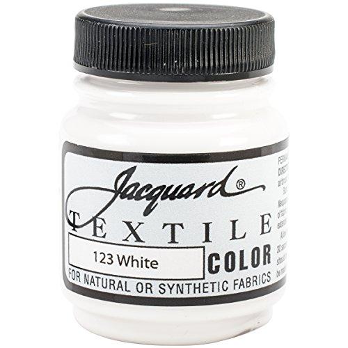 Jacquard Products Textile Color Fabric Paint, 2.25-Ounce, White (TEXTILE-1123)