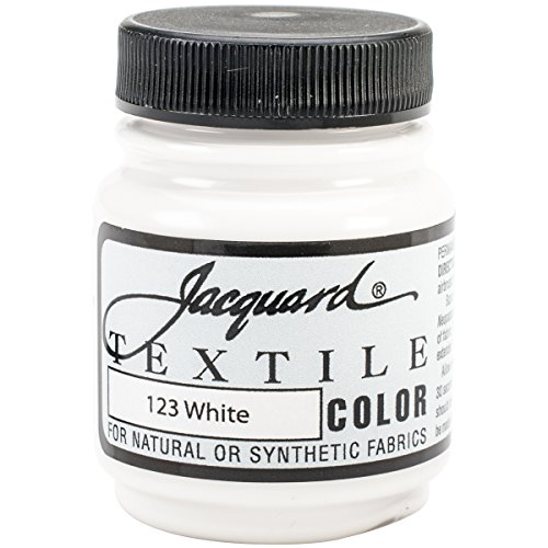 Jacquard Products Textile Color Fabric Paint, 2.25-Ounce, White (TEXTILE-1123)