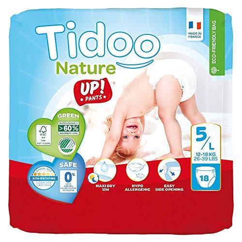 Tidoo Culotte d'apprentissage jetable pour bébé 18, taille 5