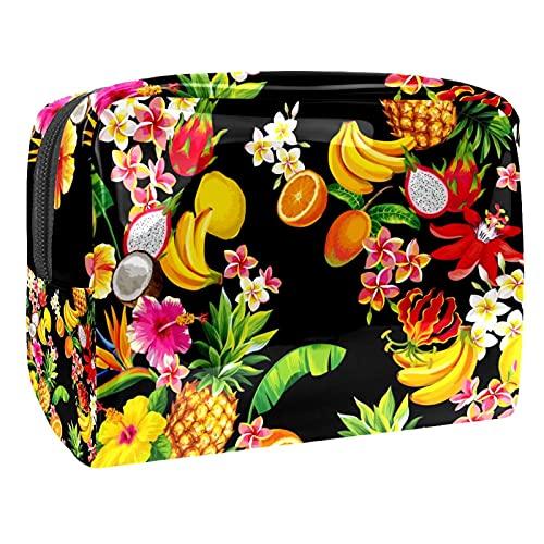 Fruit Tropical FruitLemon Banana 18.5x7.5x13cm/7.3x3x5.1in (L xW xH) Bolsas de aseo para niñas Bolsa de maquillaje de PVC Bolsa Monedero Monedero, Multi-1, 18.5x7.5x13cm/7.3x3x5.1in,