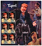 Nevis Chaim Topol Fiddler on The Roof Collectible Postage Stamps