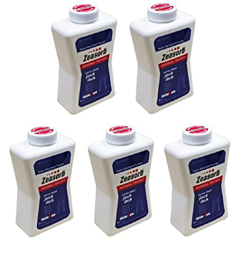 Pack of 5 Zeasorb-Af Powder Jock Itch 2.5 Oz