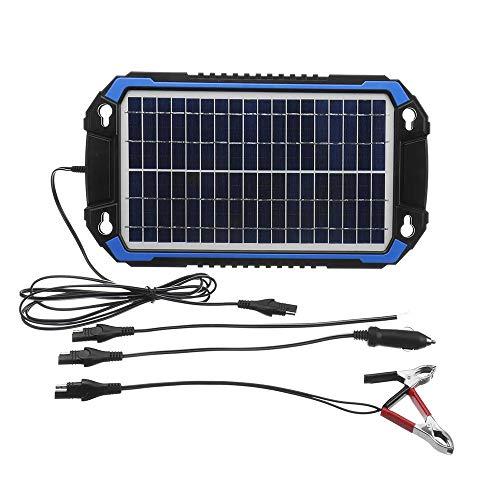 Jtoony Solarmodule 18V 6W / 8W Tragbare Sonnenkollektor-Auto-Boot Ladeenergie-Auto-Ladegerät Solarladung (Color : Black, Size : 60w)