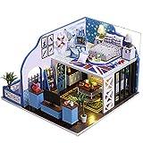Jinjin DIY Cabin Princess Room Puzzle Handmade Toys 3D Puzzle Christmas Boy Girl Gift Miniature Garden...