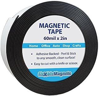 شريط مغناطيسي لاصق - شريط مغناطيسي مرن. 5.08 سم × 3.02 متر × 0.64 سم سميك - قوي جدا!