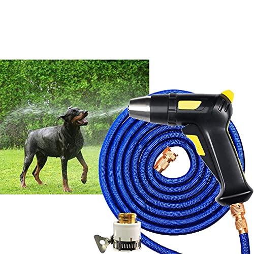 LYTBJ Accesorio de Manguera de jardín Boquilla de pulverización Boquilla de pulverización de Grifo de jardín Pulverizador Ajustable Giratorio (tamaño: Traje de 5 m)