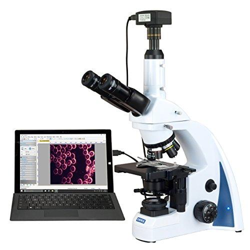 OMAX 40X-3000X 18MP USB3.0 Digital Quintuple Infinity Plan Darkfield LED Kohler Compound Microscope