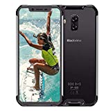 Blackview BV9600 PRO - 4G LTE Outdoor Smartphone,6.21' 19:9 FHD AMOLED Display (Ultra-Narrow Bezels),Helio P60 6GB+128GB,5580mAh Battery,IP68/IP69K Waterproof/Dustproof,NFC Argento