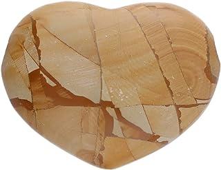 1001Kristall Corazón de 25 x 30 mm, orificio de 3 mm, de jaspe paisajístico
