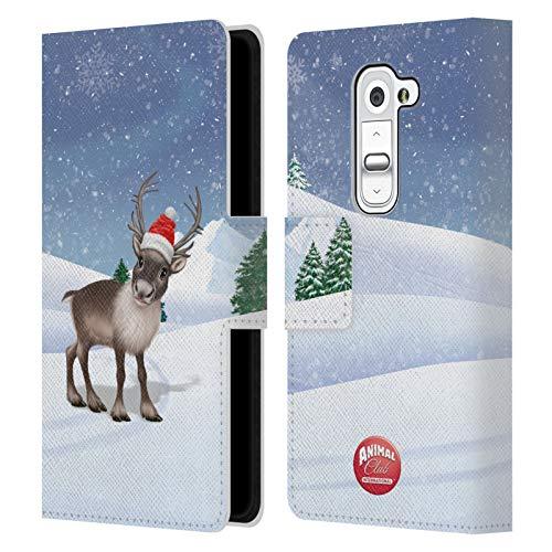 Head Case Designs Ufficiale Animal Club International Renna Animali Cover in Pelle a Portafoglio Compatibile con LG G2 Mini / D618 Dual SIM