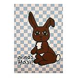 armes Hasi Postkarte für Jungs zum trösten, Trostkarte für Kinder, Häschen-Motiv