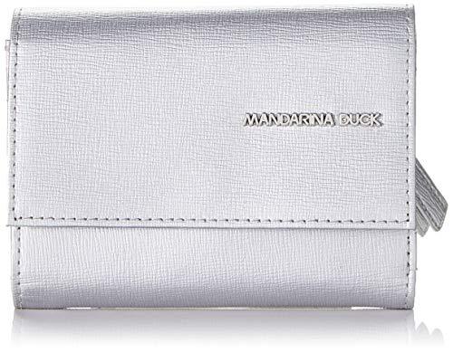 Mandarina Duck Essential, cartera. para Mujer, Plateado (Silver), 1.5x9x12 Centimeters (W x H x L)