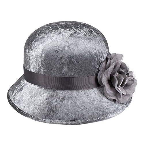Boland 00830 Cappello Flapper Unisex - Adulto Argento